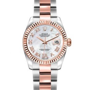 Rolex Datejust 179171 Relógio Automático Lady Grey 26mm Steel Rose Gold